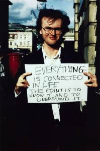 'Everything is connected in life...' 1992-3 Gillian Wearing OBE born 1963 Purchased 2000 http://www.tate.org.uk/art/work/P78351