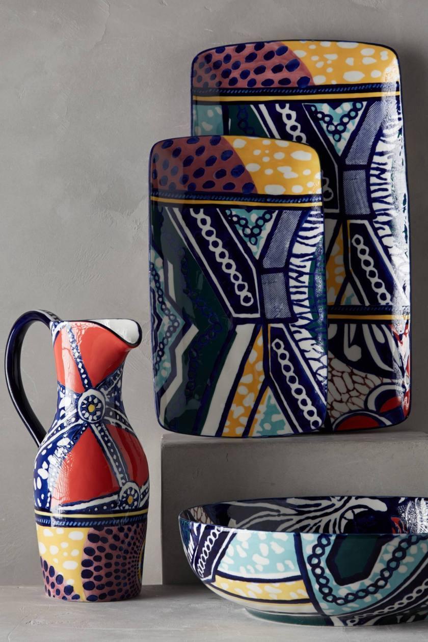 De esta idea de estampado original africano vamos a proceder a estampar papel. anthropologie.com