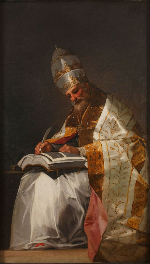 Saint Gregory the Great, Pope Google. Author: Francisco de Goya. Art Project