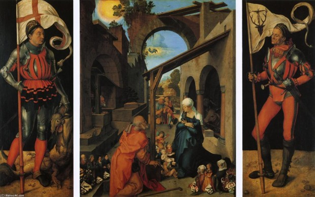La Natividad (1502-1504), Alberto Durero. Temple sobretabla, 155 cms x 126 cm. Photo Credit: Alte Pinakothek, Munich, Alemania.