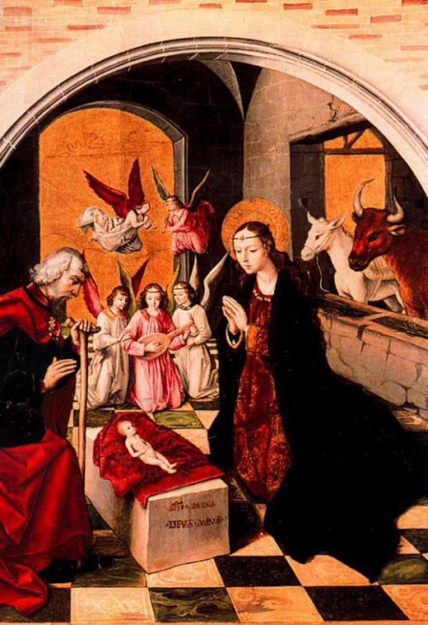 Pedro de Berruguete, (1450 – 1503) Nacimiento de Cristo. Photo Credit: Paredes de Nava, Palencia, España.