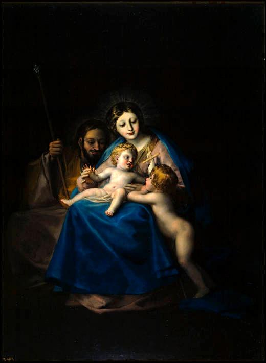 Francisco de Goya, (1775). La Sagrada Familia, realizada por Goya en 1775 y en que se aprecia la influencia de Anton Raphael Mengs.