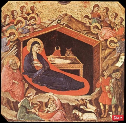 La Maestá. La natividad (h.1308-1311), Duccio di Buoninsegna. Temple sobre tabla. 47,6 x 86,5 cm. Photo Credit: Gallery of Art, Wahington, Estados Unidos.