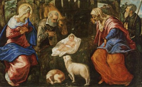 La Natividad (1555-1559), Jacopo Tintoretto. Óleo sobre lienzo, 155,6 x 358,1 cm (61 1/4 x 141 in.). Photo Credit: Museum of Fine Arts, Boston, Estados Unidos.