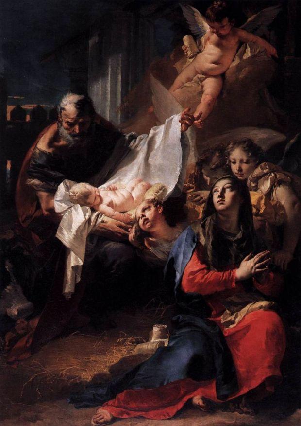 Natividad (1732). Giovanni Battista Tiepolo. Basílica de San Marcos, Venecia.