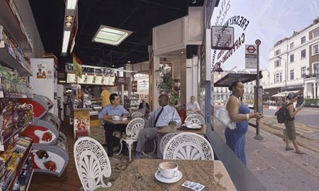 Clive Head's Coffee at the Cottage Delight is one of three paintings on display at the National Gallery.