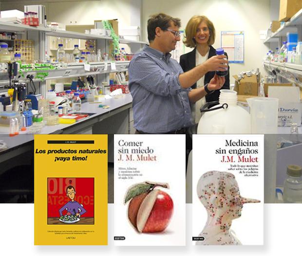 Con JM. Mulet en su laboratorio.