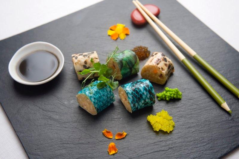 Sushi Maki de Dragón de Calasparra AGUA. Foto: Matías Pérez Llera.