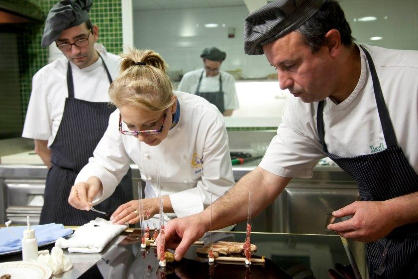 Susi Díaz en su cocina.