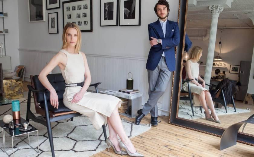 Vanessa Traina y Adam Pritzker, en la oficina de Assembled Brands en Nueva York. Danny Ghitis.