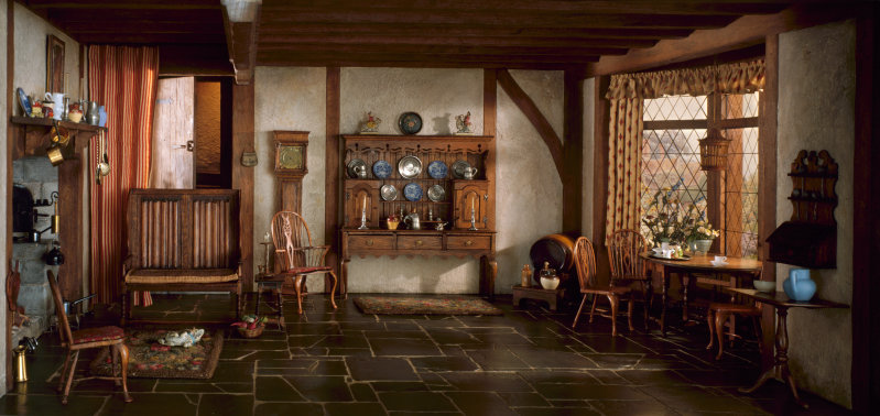 English Cottage Kitchen of the Queen Anne Period, 1702-14, c. 1937