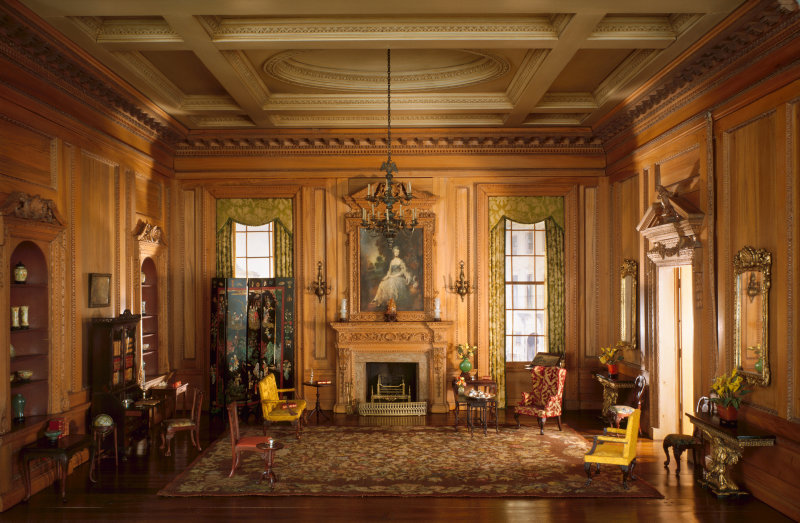English Drawing Room of the Early Georgian Period, 1730s, c. 1937