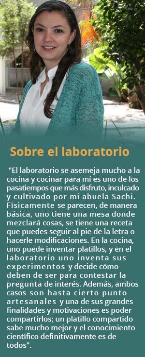 El laboratorio es como una cocina, comenta la joven investigadora.(Foto: conacytprensa.mx)