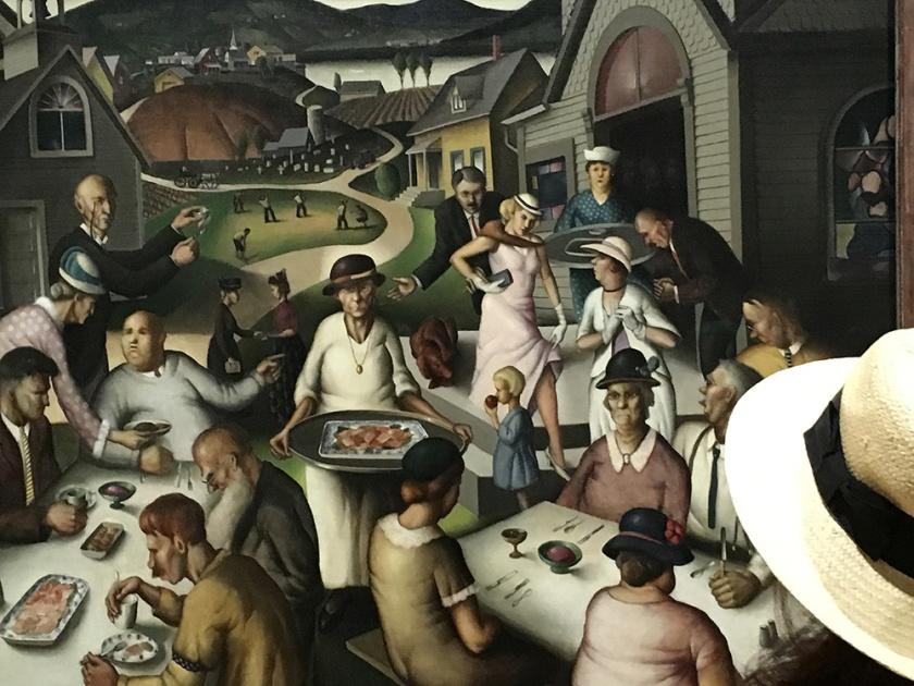Paul Sample, Americano, 1896-1974. Church Supper, 1933.