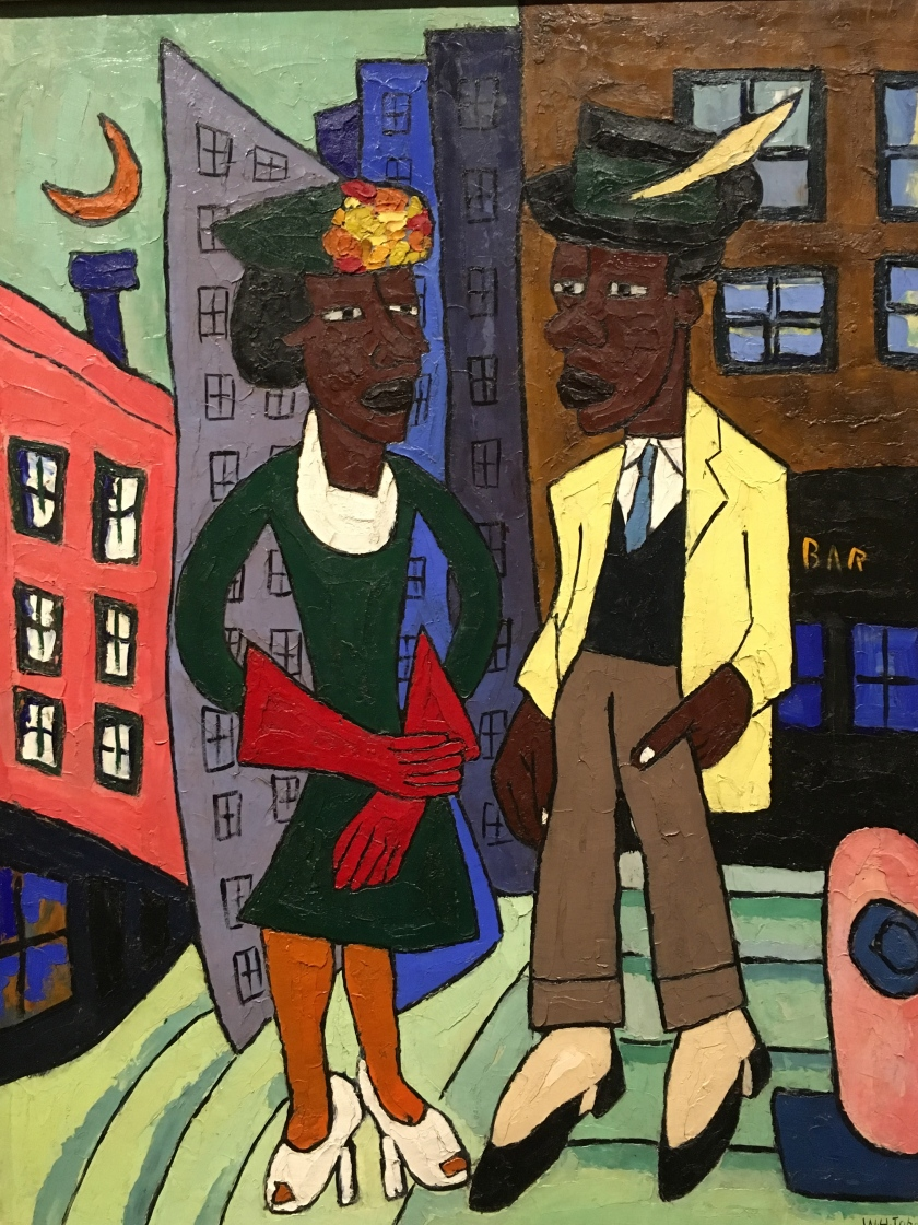 William H. Johnson, Americano, 1901-1970. Street life, Harlem, About 1939-40.