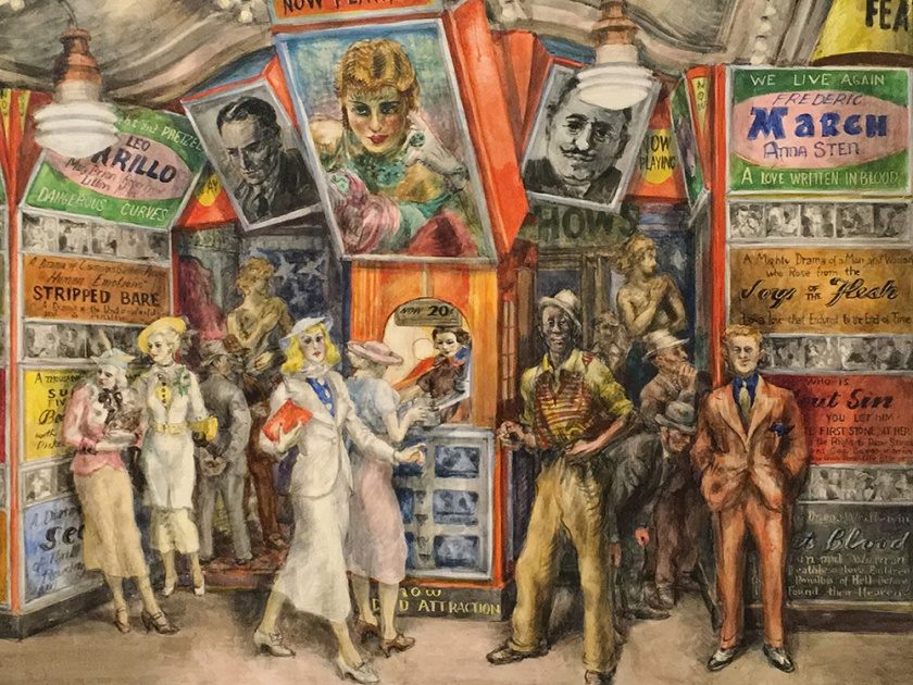 Reginald Marsh, Americano, 1898-1934. Twenty Cent Movie, 1936.