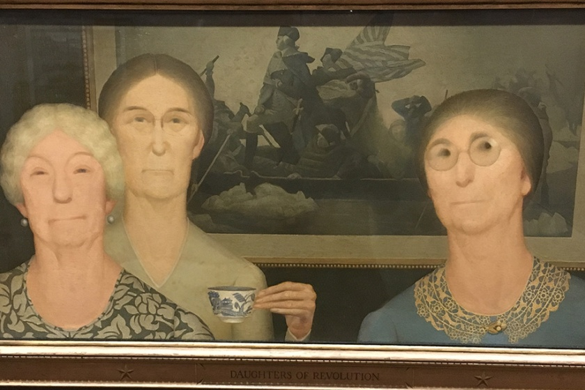 Grant Wood, Americano, 1891-1942. Daughters of Revolution, 1932.