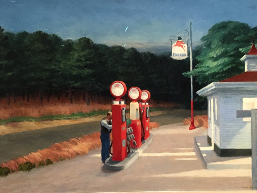Edward Hopper, Americano, 1882-1967. Gas, 1940.