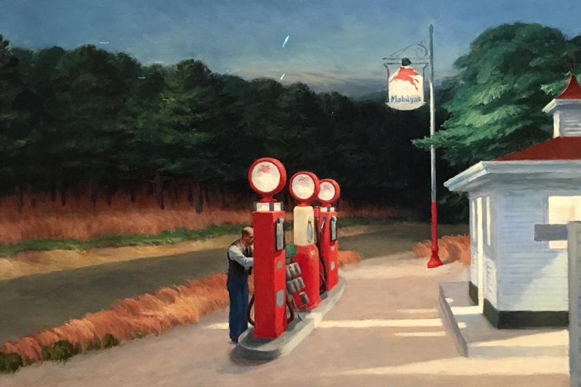 Edward Hopper, Americano, 1882-1967. Gas, 1940.