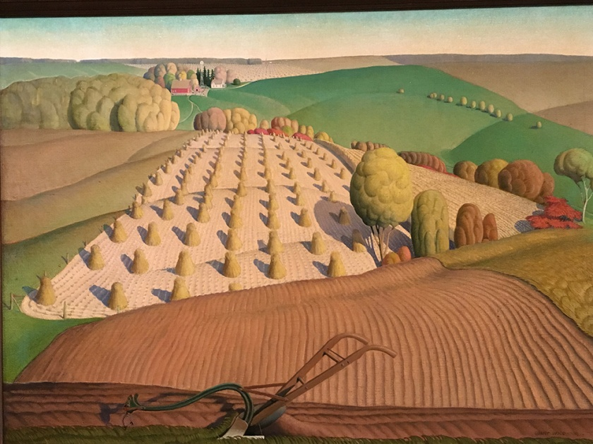 Grant Wood, Americano, 1891-1942. Fall Plowing, 1931.
