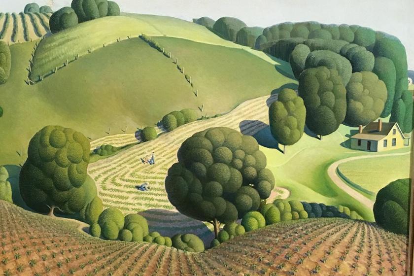 Grant Wood, Americano, 1891-1942. Young Corn, 1931.