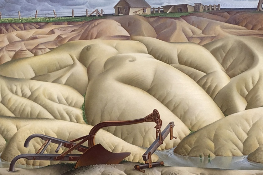 Alexandre Hogue, Americano, 1898-1994. Erosion No. 2–Mother earth Laid Bare.