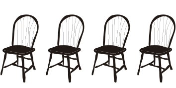sillas para la mesa de Navidad