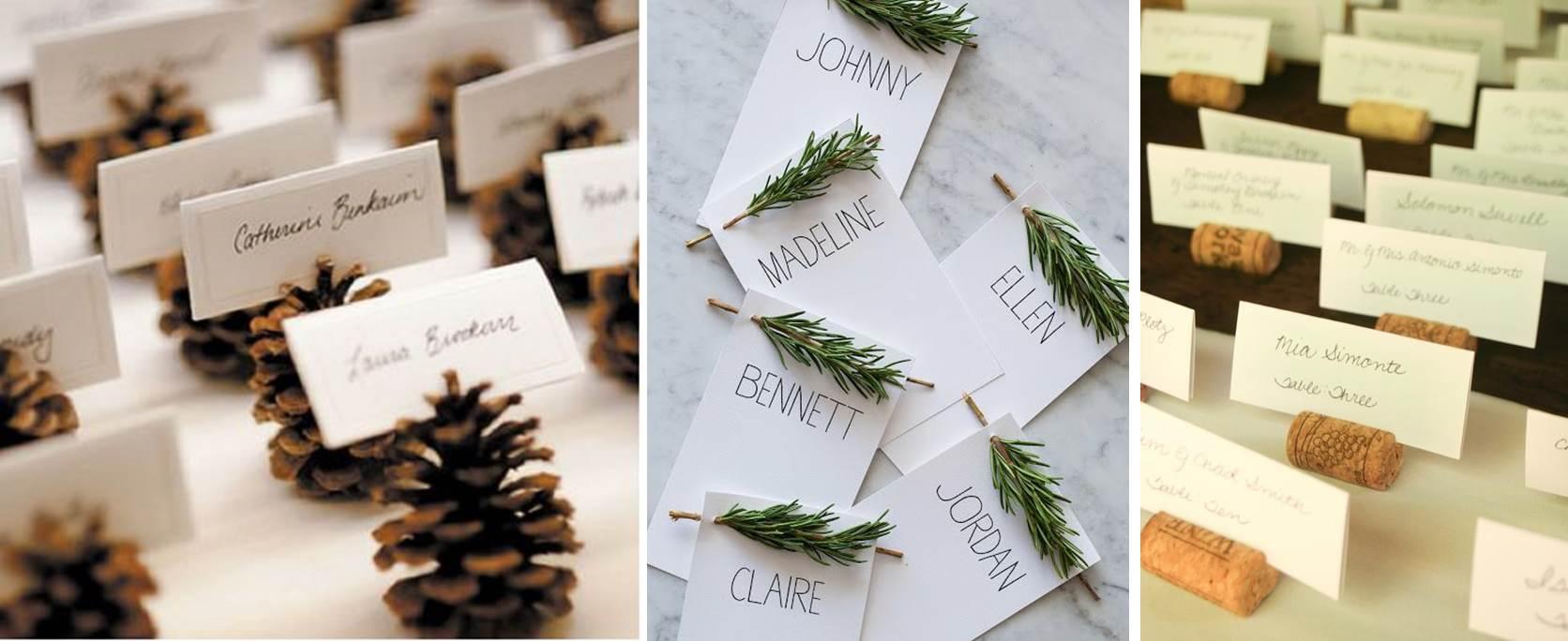 Decoracion mesa nombres puestos navidad piasweethome com - Decoracion de navidad para la mesa ...