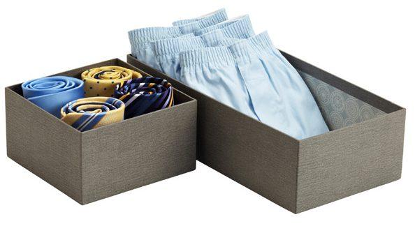Organizar las corbatas. Foto: containerstore.com