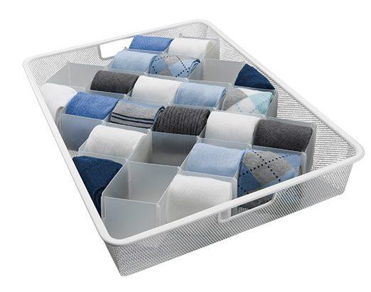 Organizar los calcetines. Foto: containerstore.com