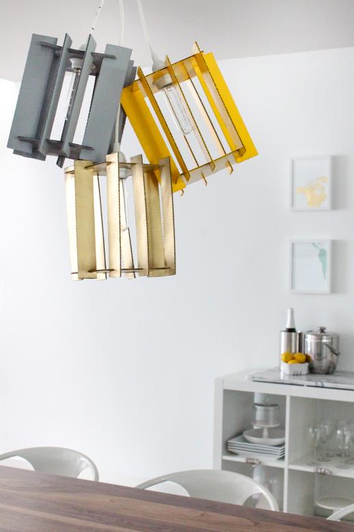 Lámparas DIY. Lámpara de cartón.
