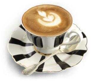 Desayunar bien con un café con leche.