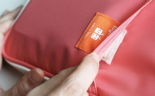 Orden en el bolso: Aquí tienes el belcro.