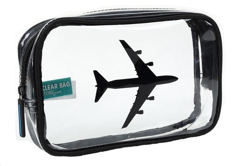 Bolsa para viajes en avión. Un must have. Foto: theclearbagstore.com