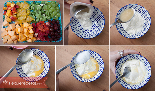 fondue fria frutas y yogur