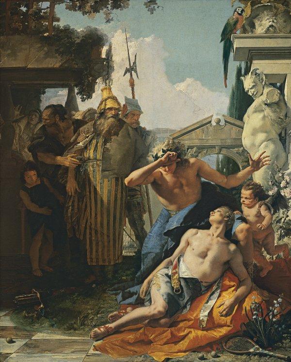 La muerte de Jacinto, hacia 1752-1753. Tiépolo.