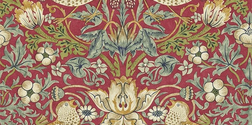 William Morris, Dibujo para el papel pintado