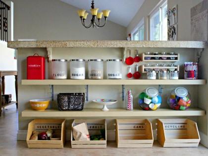Cómo organizar los armarios de la cocina.